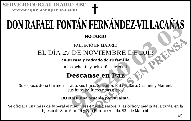 Rafael Fontán Fernández-Villacañas